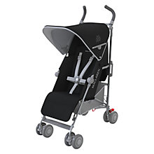 Buy Maclaren Quest Stroller, Black/Silver Online at johnlewis.com