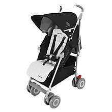 Buy Maclaren Techno XLR Stroller, Black/Silver Online at johnlewis.com