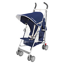 Buy Maclaren Globetrotter Pushchair, Blue/silver Online at johnlewis.com