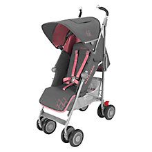 Buy Maclaren Techno XT Stroller, Charcoal/Primrose Online at johnlewis.com