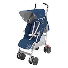 Buy Maclaren Techno XT Pushchair, Blue/Silver Online at johnlewis.com