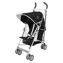 Buy Maclaren Globetrotter Pushchair, Black/white Online at johnlewis.com