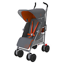 Buy Maclaren Techno XT Pushchair, Charcoal/Marmalade Online at johnlewis.com
