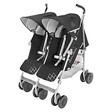 Buy Maclaren Twin Techno Buggy, Black Online at johnlewis.com