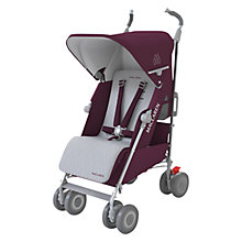 Buy Maclaren Techno XLR Pushchair, Plum/Silver Online at johnlewis.com