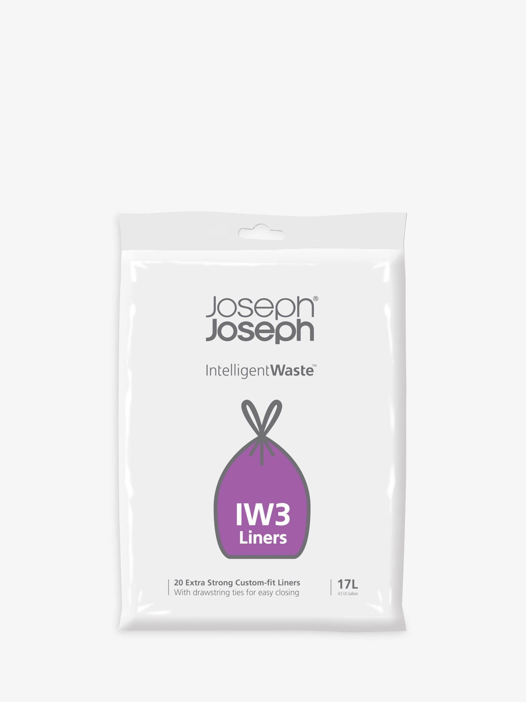 Joseph Joseph Joseph Joseph Intelligent Waste General Waste Liners, Pack of 20