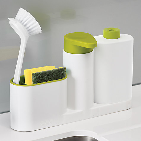 buy joseph joseph sinkbase 3 piece sink tidy set white green john lewis. Black Bedroom Furniture Sets. Home Design Ideas
