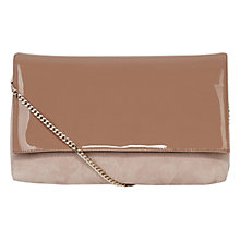 Buy Karen Millen Patent And Suede Brompton Clutch Online at johnlewis.com