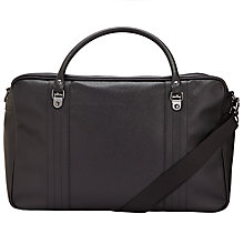Buy Fred Perry Scotch Overnight Bag, Black Online at johnlewis.com