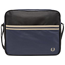 Buy Fred Perry Coated Canvas Shoulder Bag, Navy/Black Online at johnlewis.com