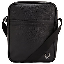Buy Fred Perry Scotch Side Bag, Black Online at johnlewis.com