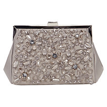Buy Coast Gully Sparkle Clutch Bag, Grey Online at johnlewis.com