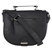 Buy Oasis Large Saddle Bag, Black Online at johnlewis.com