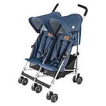 Buy Maclaren Twin Triumph Pushchair, Denim Online at johnlewis.com