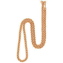 Buy Susan Caplan for John Lewis 1990's Gold Plated Spiga Chain Necklace, Gold Online at johnlewis.com