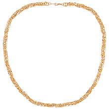 Buy Susan Caplan for John Lewis 1980's Gold Plated Twist Chain Necklace, Gold Online at johnlewis.com