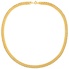 Buy Susan Caplan for John Lewis 1990s Gold Plated Snake Chain Collar Necklace, Gold Online at johnlewis.com