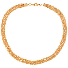 Buy Susan Caplan for John Lewis 1990s Gold Plated Braid Necklace, Gold Online at johnlewis.com