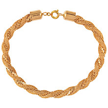 Buy Susan Caplan for John Lewis 1980s Braided Chain Bracelet, Gold Online at johnlewis.com
