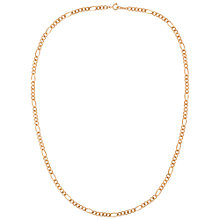 Buy Susan Caplan for John Lewis 1990s Gold Plated Figaro Chain Necklace, Gold Online at johnlewis.com