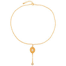 Buy Susan Caplan for John Lewis 1990s Gold Plated Crystal Edwardian Style Oval Pendant, Gold Online at johnlewis.com