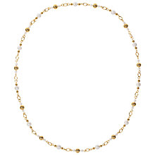 Buy Susan Caplan for John Lewis 1980s Gold Toned Faux Pearl Bead Chain Necklace, Gold Online at johnlewis.com