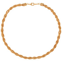 Buy Susan Caplan for John Lewis 1980's Gold Plated Braid Chain Necklace, Gold Online at johnlewis.com