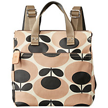 Buy Orla Kiely Matte Laminated Backpack, Nude Online at johnlewis.com