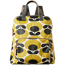 Buy Orla Kiely Matte Laminated Backpack, Mustard Online at johnlewis.com