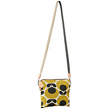 Buy Orla Kiely Matte Laminated Travel Pouch, Mustard Online at johnlewis.com