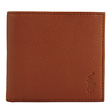 Buy Polo Ralph Lauren Pebble Leather Bifold Wallet, Tan Online at johnlewis.com