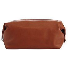 Buy Polo Ralph Lauren Pebble Leather Wash Bag, Tan Online at johnlewis.com