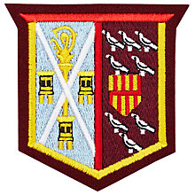 Buy St Cuthbert's High School Bede House Badge, Multi Online at johnlewis.com