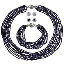 Buy John Lewis Sparkle Multi Row Statement Necklace, Bracelet and Stud Earrings Gift Set Online at johnlewis.com