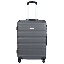 Buy John Lewis Basics 4-Wheel Medium Suitcase, Anthracite Online at johnlewis.com