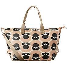 Buy Orla Kiely Giant Oval Stem Zip-Up Holdall, Nude Online at johnlewis.com