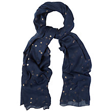 Buy White Stuff Foil Spot Scarf, Pottery Blue Online at johnlewis.com