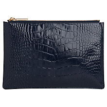 Buy Whistles Shiny Croc Leather Small Pouch Online at johnlewis.com
