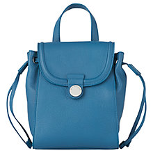 Buy Whistles Mini Astor Backpack, Blue Leather Online at johnlewis.com