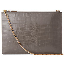 Buy Whistles Rivington Shiny Croc Leather Chain Clutch Bag Online at johnlewis.com