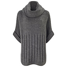 Buy Phase Eight Adrianna Chunky Poncho, Dark Grey Online at johnlewis.com