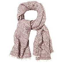 Buy White Stuff Ottodine Textured Scarf, Pink/Cream Online at johnlewis.com