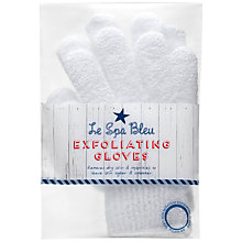 Buy Le Spa Bleu White Exfoliating Gloves Online at johnlewis.com