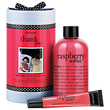 Buy Philosophy Raspberry Thank You Bath & Body Gift Set Online at johnlewis.com