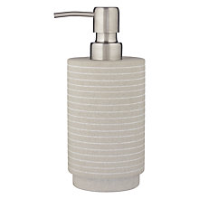 Buy John Lewis Spa Mint Sandstone Soap Dispenser Online at johnlewis.com