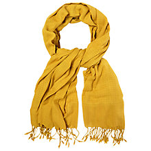 Buy White Stuff Textured Scarf, Turmeric Yellow Online at johnlewis.com