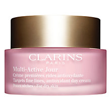 Buy Clarins Multi-Active Day Cream, Dry Skin, 50ml Online at johnlewis.com