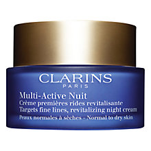Buy Clarins Multi Active Night Cream, Normal / Dry Skin, 50ml Online at johnlewis.com