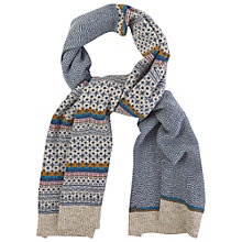 Buy White Stuff Urban Fairisle Scarf, Navy Online at johnlewis.com