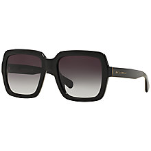 Buy Dolce and Gabbana DG4273 Square Sunglasses, Black Online at johnlewis.com